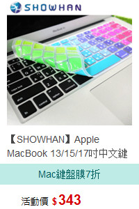 【SHOWHAN】Apple MacBook 13/15/17吋中文鍵盤膜