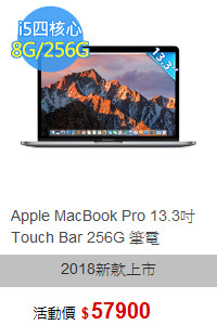 Apple MacBook Pro 13.3吋 Touch Bar 256G 筆電