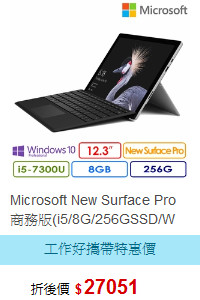 Microsoft New Surface Pro 商務版(i5/8G/256GSSD/W
