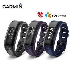 ~ ~GARMIN vívosmart HR iPASS 腕式心率智慧手環 ^(三色 iP