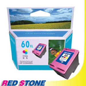 "RED STONE for HP CC644WA環保墨水匣(彩色)NO.60XL""高容量"""
