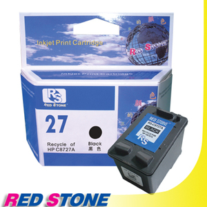 【任選】RED STONE for HP C8727A環保墨水匣(黑色)NO.27