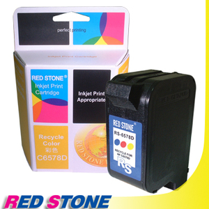 【任選】RED STONE for HP C6578D環保墨水匣(彩色)NO.78