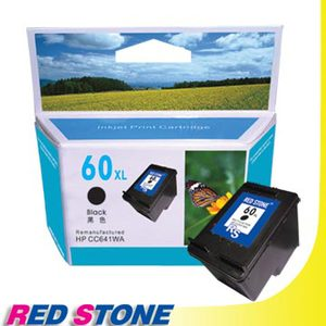 【任選】RED STONE for HP CC641WA環保墨水匣(黑色)NO.60XL[高容量]