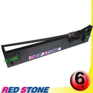 RED STONE for EPSON S015611/LQ690C黑色色帶組(1組6入)