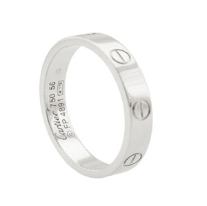 Cartier Mini LOVE RING 白K金戒指