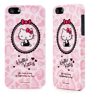 Garmma Hello Kitty for iPhone 5/5S保護殼-趣味粉