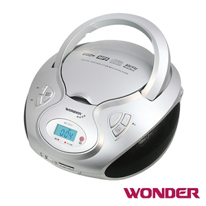 WONDER旺德手提CD/MP3/USB/SD音響 (銀灰)WD-7207U