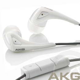 AKG K350 High Performance In-ear headset白色iPhone耳機