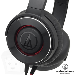鐵三角 ATH~WS550 黑紅色BRD Audio~Technica SOLID BAS