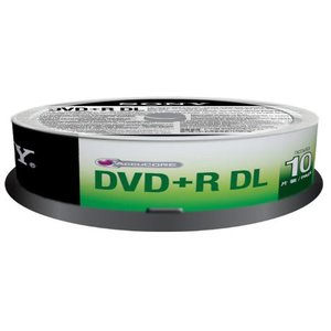 SONY 8X DVD +R DL  8.5GB  燒錄片 ( 10片)