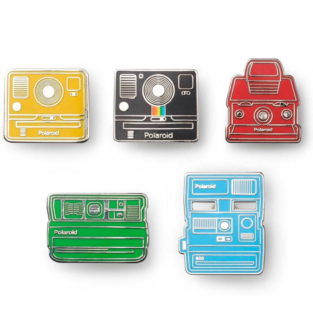 Polaroid Camera Pin Badge Kit(5) 相機造型徽章.