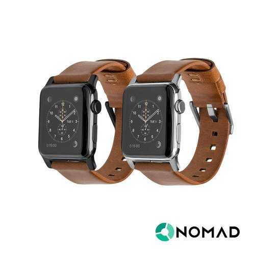 美國NOMADxHORWEEN Apple Watch專用皮革錶帶