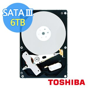 ◆快速到貨 ◆Toshiba 3.5吋 Desktop 6TB SATAIII 7200RPM 128MB (MD04ACA600)