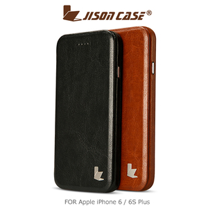 JISONCASE Apple iPhone 6 6S Plus 可站立側翻皮套