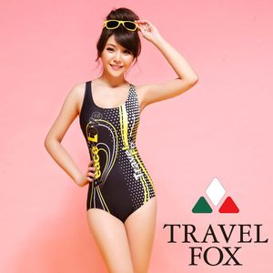 夏之戀Travel Fox  極速競泳連身三角泳衣C14706
