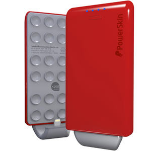 PowerSkin® PoP'n-吸盤行動電源-紅色-支援iPhone, Samsung, HTC, Sony, LG, Moto..等手機品牌
