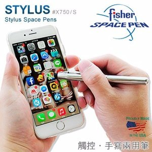 Fisher Stylus Space Pens 觸控兩用筆-銀色 #X750/S(銀色)