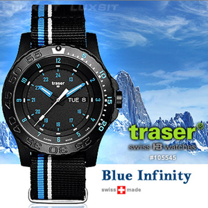Traser Blue Infinity 軍錶 #105545