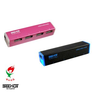 嘻哈部落Seehot【Mini】4 Port USB 2.0 HUB(SH-H808)