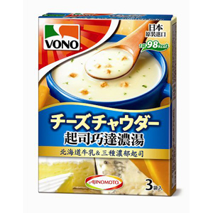 VONO CupSoup 起司巧達濃湯 (19.8gX3包入)/盒