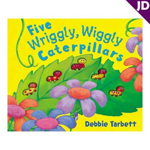 【英國Caterpillar原文童書】Five Wriggly, Wiggly Caterpillars 倒數觸摸書