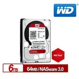 WD 威騰 紅標 6TB 3.5吋 NAS專用硬碟 (NASware3.0) (WD60EFRX)