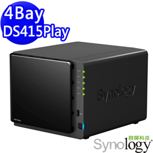 Synology 群暉 DS415Play NAS 網路儲存伺服器