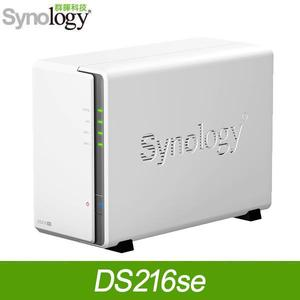 Synology 群暉 DS216SE  2Bay NAS DiskStation 網路儲存伺服器