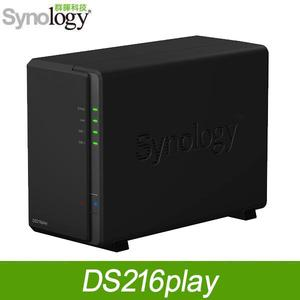 Synology 群暉 DS216Play 2Bay NAS DiskStation 網路儲存伺服器
