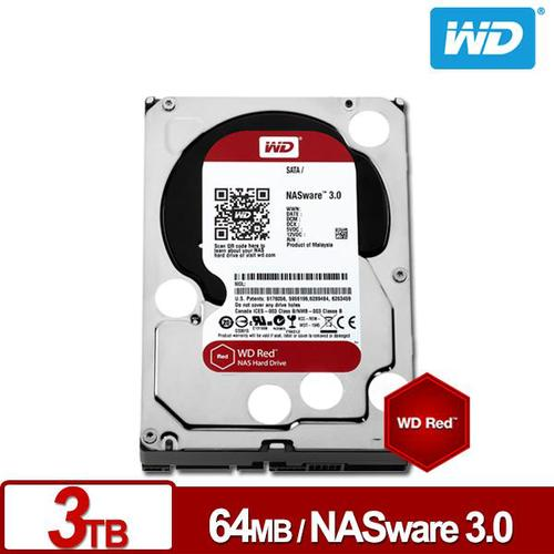 ◆快速到貨◆WD 威騰 紅標 3TB 3.5吋 NAS 專用硬碟 (WD30EFRX)