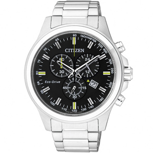 CITIZEN Eco-Drive 光動能 極限空間計時腕錶(黑/43mm) AT2310-57E
