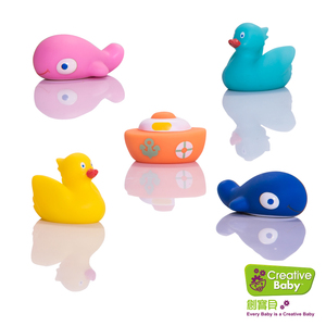 Creative Baby 水上樂園噴水洗澡玩具(Great Lakes Bath Squirt Toys)