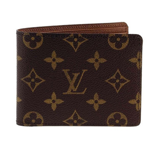 Louis Vuitton / LV  Monogram 男用 二折 交叉 短夾 M60895