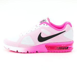(女)NIKE WMNS NIKE AIR MAX SEQUENT慢跑鞋白桃紅719916106-