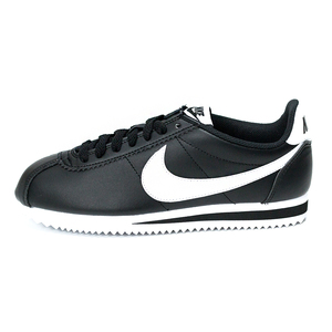 (女)NIKE WMNS CLASSIC CORTEZ LEATHER休閒鞋黑白807471010-