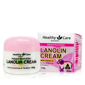 澳洲 Healthy Care 天然維他命E保濕綿羊霜 Lanolin Cream (with Vitamin E) (100g)