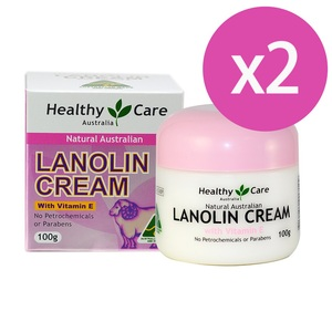 澳洲 Healthy Care 天然維他命E保濕綿羊霜 Lanolin Cream (with Vitamin E) (100g) 二入組