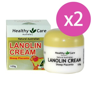 澳洲 Healthy Care 天然頂級羊胎盤返齡綿羊霜 Lanolin Cream (With Sheep Placenta) (100g) 二入組
