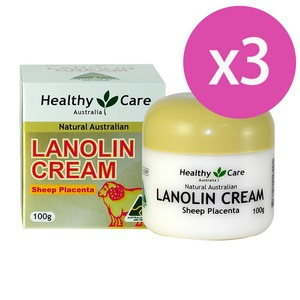 澳洲 Healthy Care 天然頂級羊胎盤返齡綿羊霜 Lanolin Cream (With Sheep Placenta) (100g) 三入組