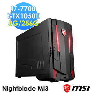 msi Nightblade MI3 7RB-011TW 電競桌機 黑色(i7-7700HQ/8G/GTX1050TI/256G/WIN10)