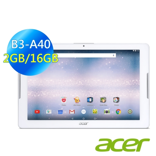 【ACER】 Iconia One 10 B3-A40 10.1吋 (2G/16G/WiFi版)白色