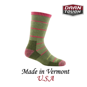 【美國DARN TOUGH】Summit Stripe Boot Sock Cushion  健行系列等長襪 柳綠色