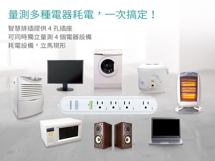 In-Snergy Family 雲端智能排插(110V/四孔)