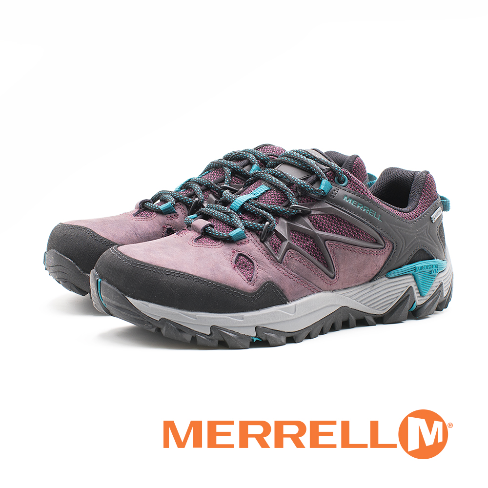 MERRELL(女)ALL OUT BLAZE 2 GORE-TEX®健走登山鞋 耐磨抗菌 防水 防臭緩震-紫