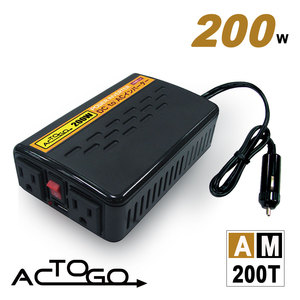 AC-TO-GO★AM200T 12V 200W 汽車電源轉換器[ USB2.1A急速充電 ]