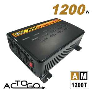 AC TO GO ★AM1200T 1200W汽車電源轉換器USB Plus