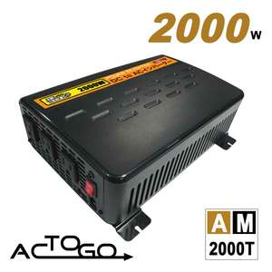 AC-TO-GO★AM2000T 2000W汽車電源轉換器USB Plus