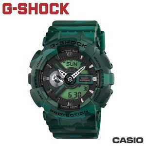 "CASIO《 G-SHOCK ""BIG G""》叢林迷彩系列 GA-110CM-3A"