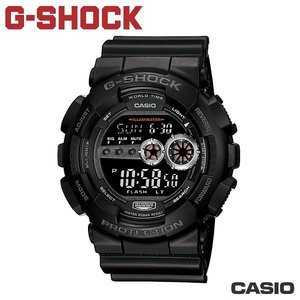 "CASIO GD-100-1B《G-SHOCK ""BIG G""》超亮極光LED系列 (全黑)"